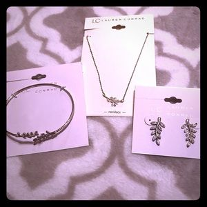 Lauren Conrad Necklace, Bracelet, Earring Set